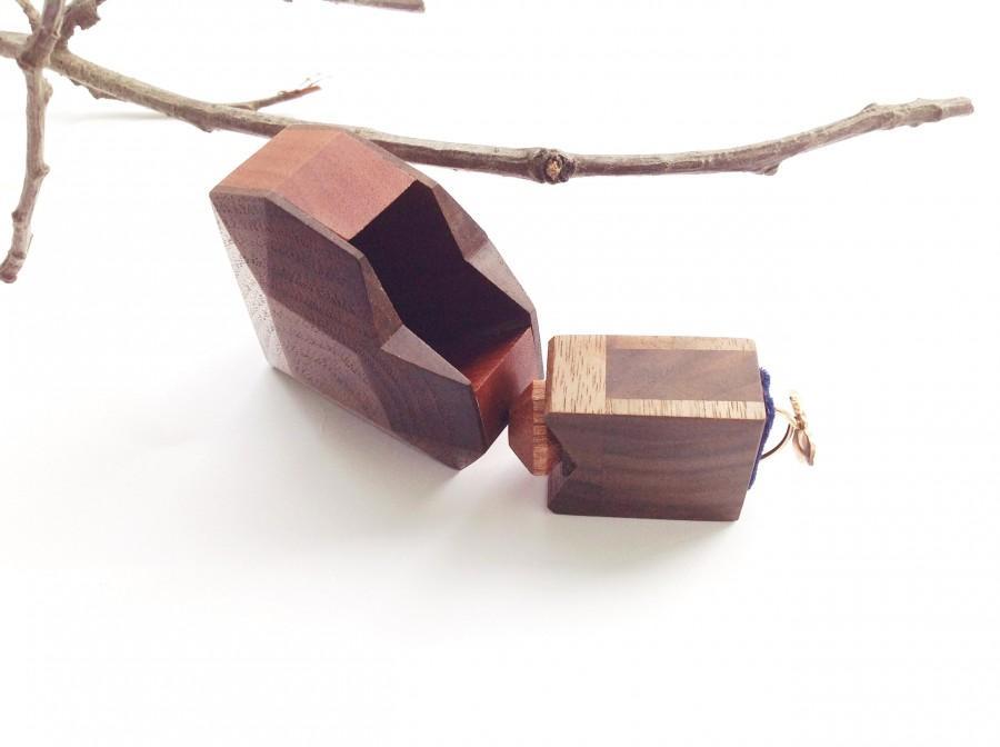 Свадьба - Wood Box Wedding Ring Box Wood Ring Box Wooden Box Wedding Ring Box Jewelry Ring Box Engagement Ring Box Proposal Ring Box Heart Ring Box