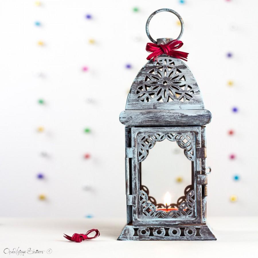 Wedding - Rustic Lantern, Rustic Wedding Lighting, Lace Effect Lantern, Wedding Decor, Distressed Lantern Wedding table Decor Wedding Centerpiece