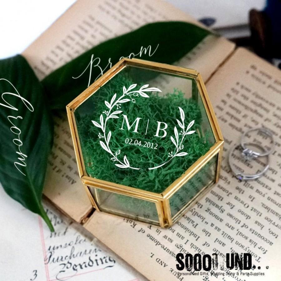 Wedding - Ring Box, Wedding Ring Box, Ring Bearer Box, Engagement Ring Box, Proposal Ring Box, Glass Ring Box, Personalized Ring Pillow