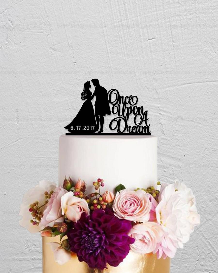 Свадьба - Wedding Cake Topper,Sleeping Beauty And Prince Cake Topper,Once Upon A Dream Cake Topper,Custom Cake Topper,Personalized Cake Topper