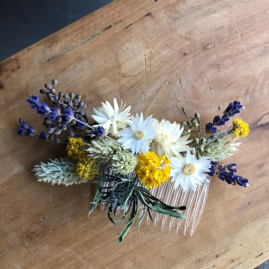 Свадьба - Series SOMMERWIESE, Hair Comb Dried Flowers, Dried flowers