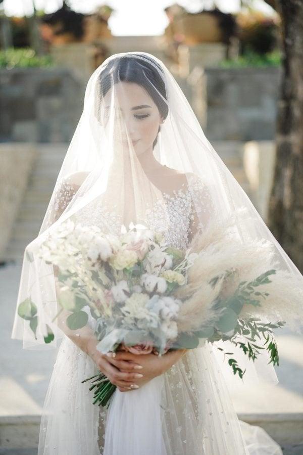 "Свадьба - 118"" Soft Drop Cathedral veil Wedding veil Soft Bridal veil Soft veil Bridal accessories"