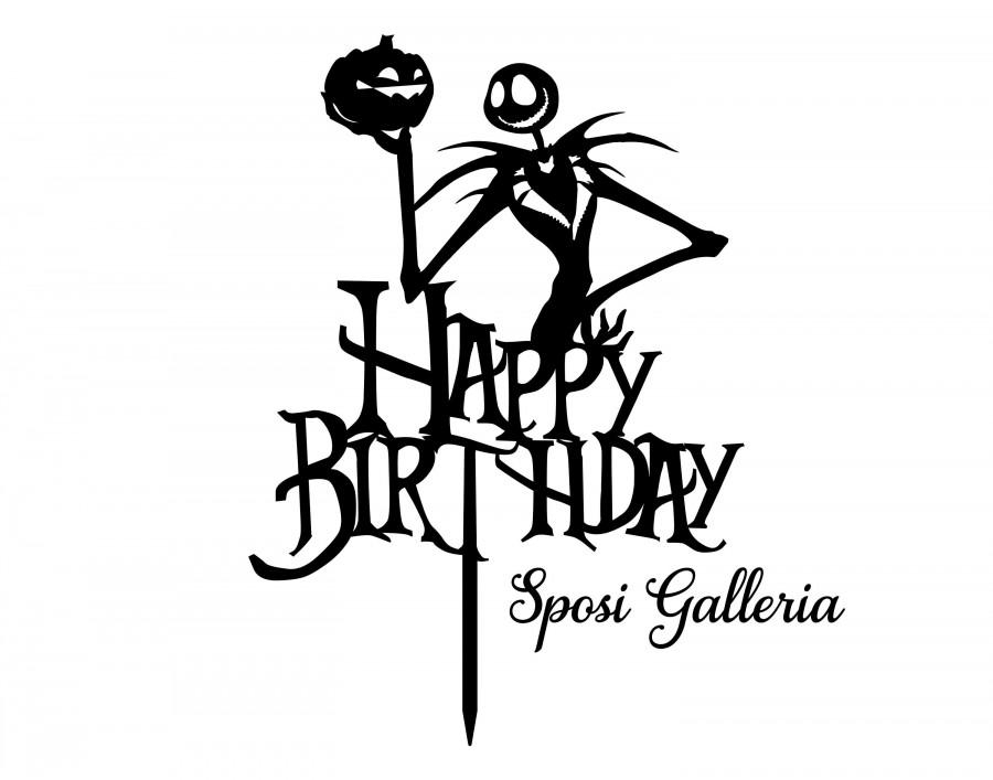 Wedding - Happy Birthday - Jack Skellington A Nightmare Before Christmas Cake Topper