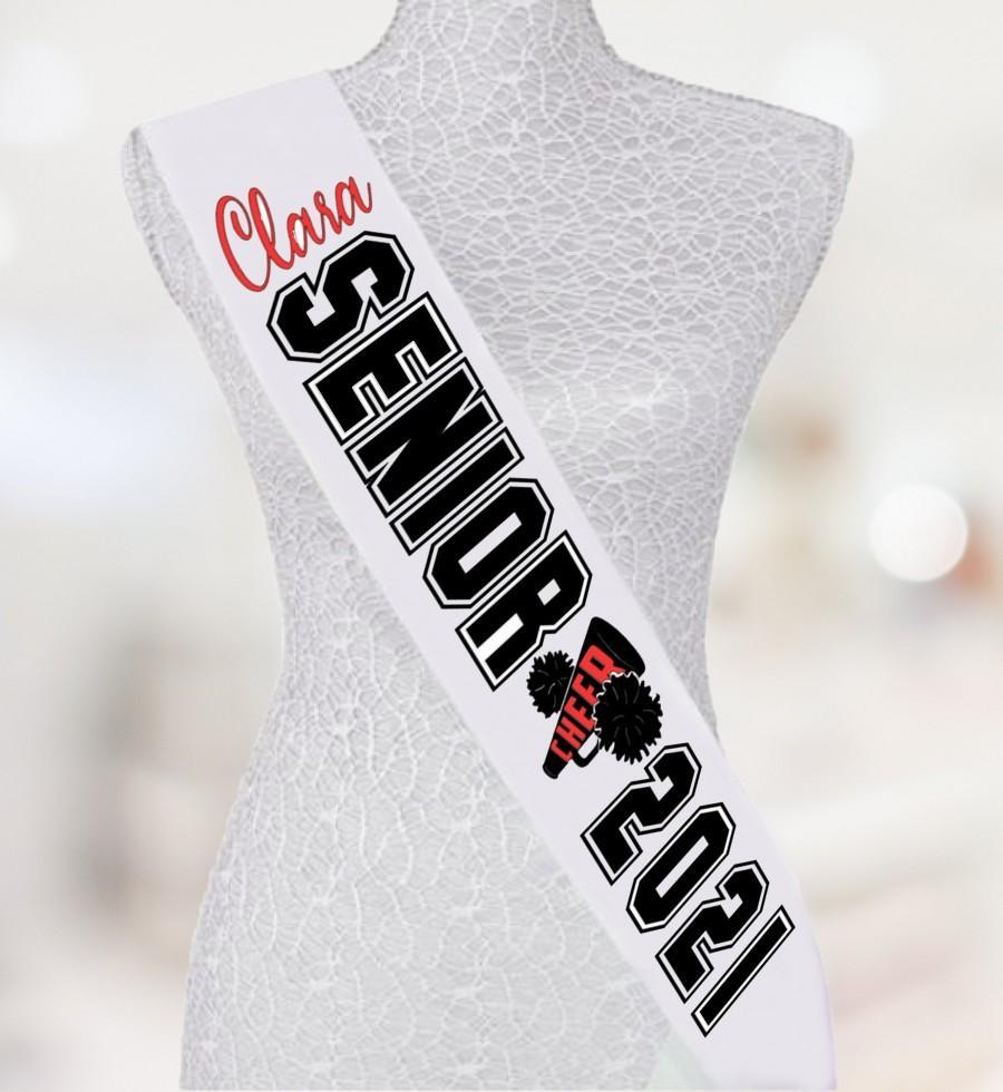 زفاف - Senior Sashes - Cheer sashes. Customized sash for any occasion. Glitter sashes