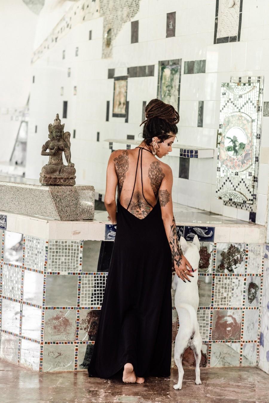Свадьба - Black Wedding Dress • Boho Dress • Organic Bohemian Dress • Sleeveless Party Dress • Prom Dress • Evening Dress •  Black Dresses for Women