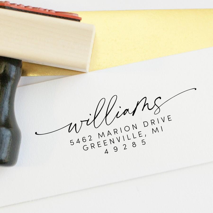 Wedding - Custom Return Address Stamp - Personalized Address Stamp - Self Inking Address Stamp - Housewarming Gift