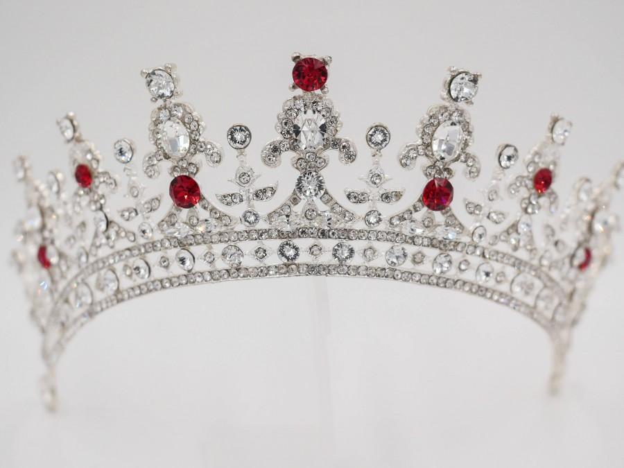 Wedding - Swarovski crystal tiara made with custom colour Swarovski Crystal Elements finished in silver, gold or rose gold
