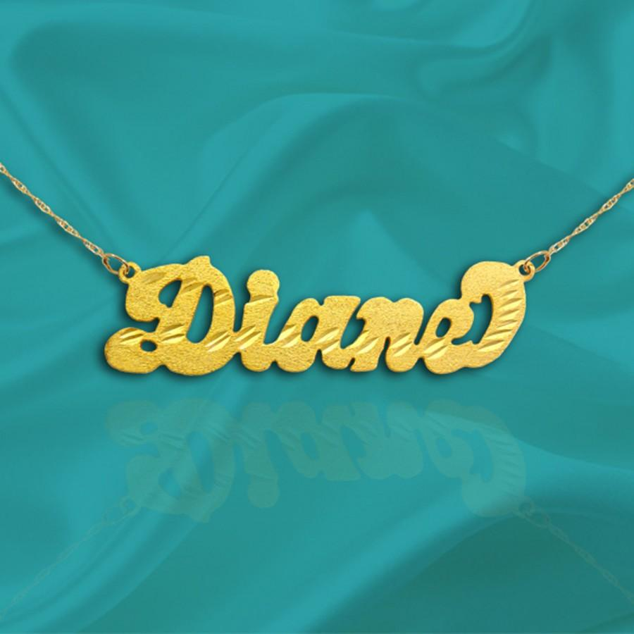 Wedding - Script Name Necklace - Handcrafted Designer Name - 24k Gold Plated Sterling Silver - Custom Name Necklace - Personalized Gifts - Made in USA