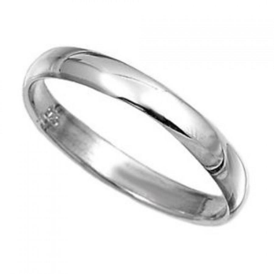 Wedding - Solid 925  Sterling Ring 3mm Band Ring in Sizes G-Z/20 Different Sizes Available