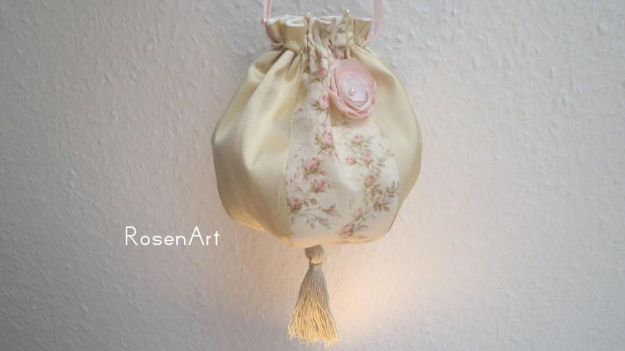 Wedding - Reticule Silk Jane Austen bag Regency Victorian Empire costume Empire dress Roses Rose