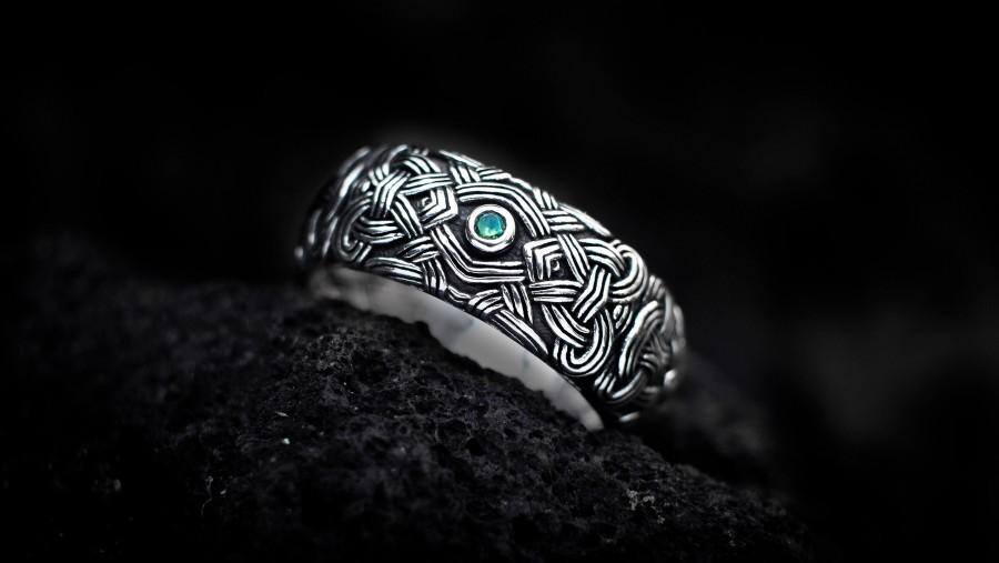Wedding - Viking Wedding Ring, Celtic Knot Ring, Viking Silver Ring, Celtic Wedding Ring, Norse Jewelry