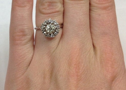 Wedding - Round Halo Diamond Engagement Ring