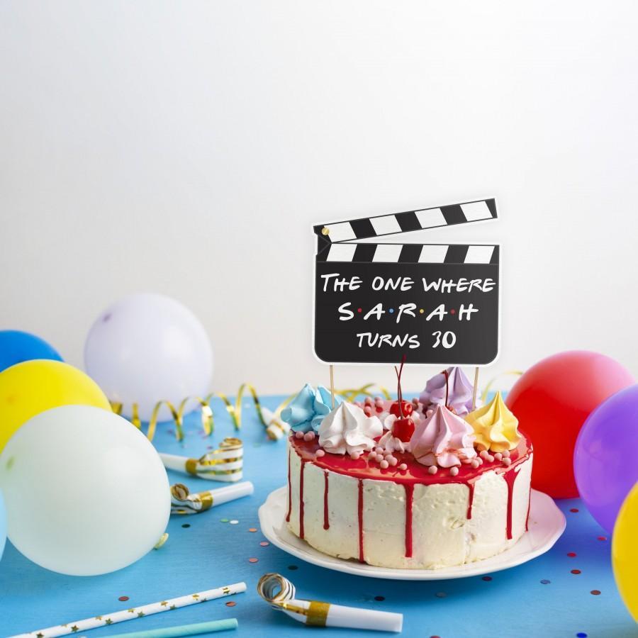 Hochzeit - friends cake topper, friends birthday, custom cake topper, friends theme birthday party, graduation cake topper