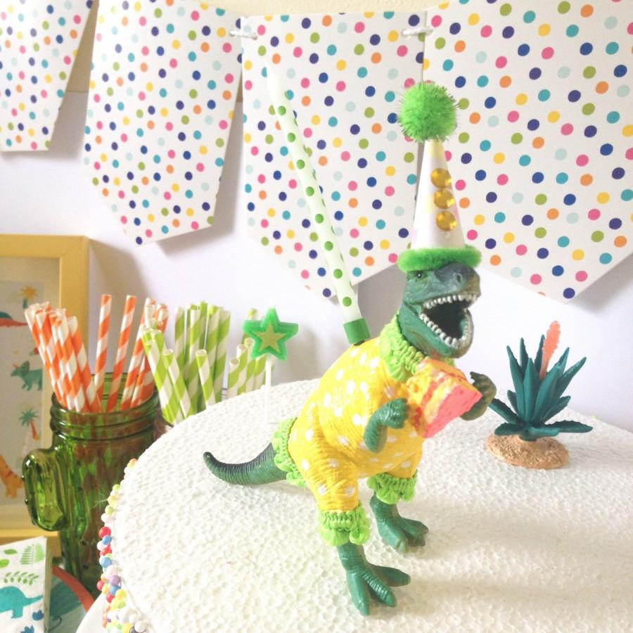 Hochzeit - T Rex-Dinosaur Cake Topper-Dinosaur Cake Topper-Dino Party Theme-Kids Cake Topper-Party Animal Topper-T-Rex Topper
