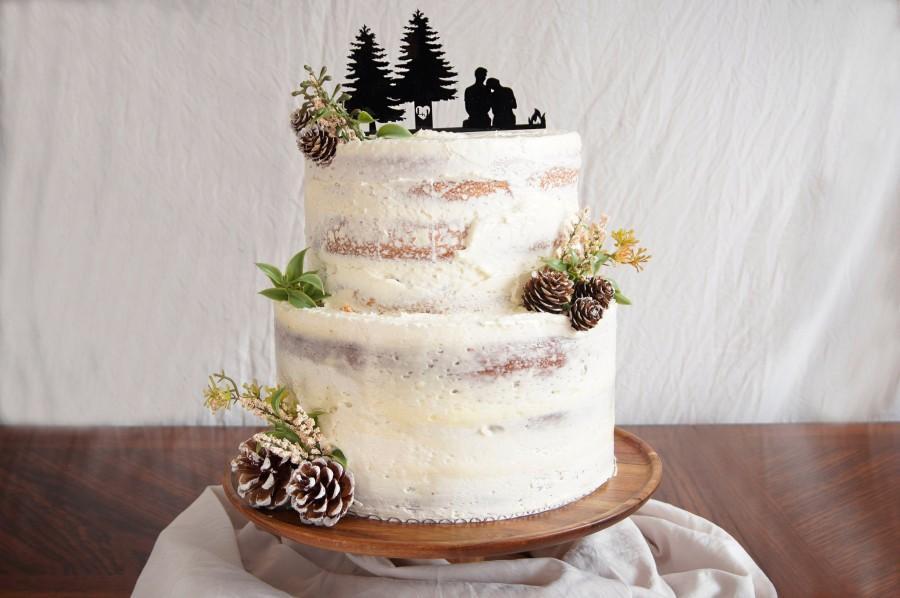 Hochzeit - Scenic Silhouette Wedding Cake Topper
