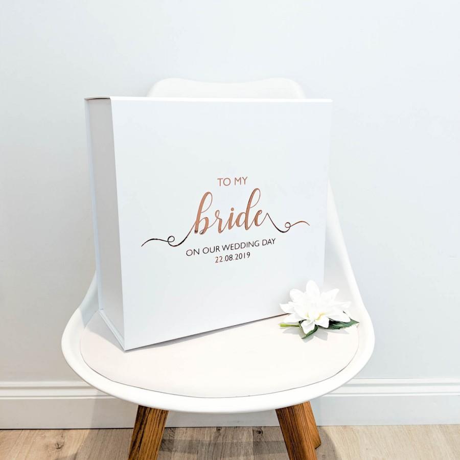 Свадьба - Wedding Day Gift Box 'To my Bride'