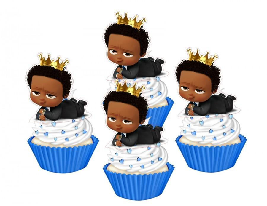 Свадьба - Dark Skinned  Baby cupcake toppers,cakepop toppers,cupcake decors