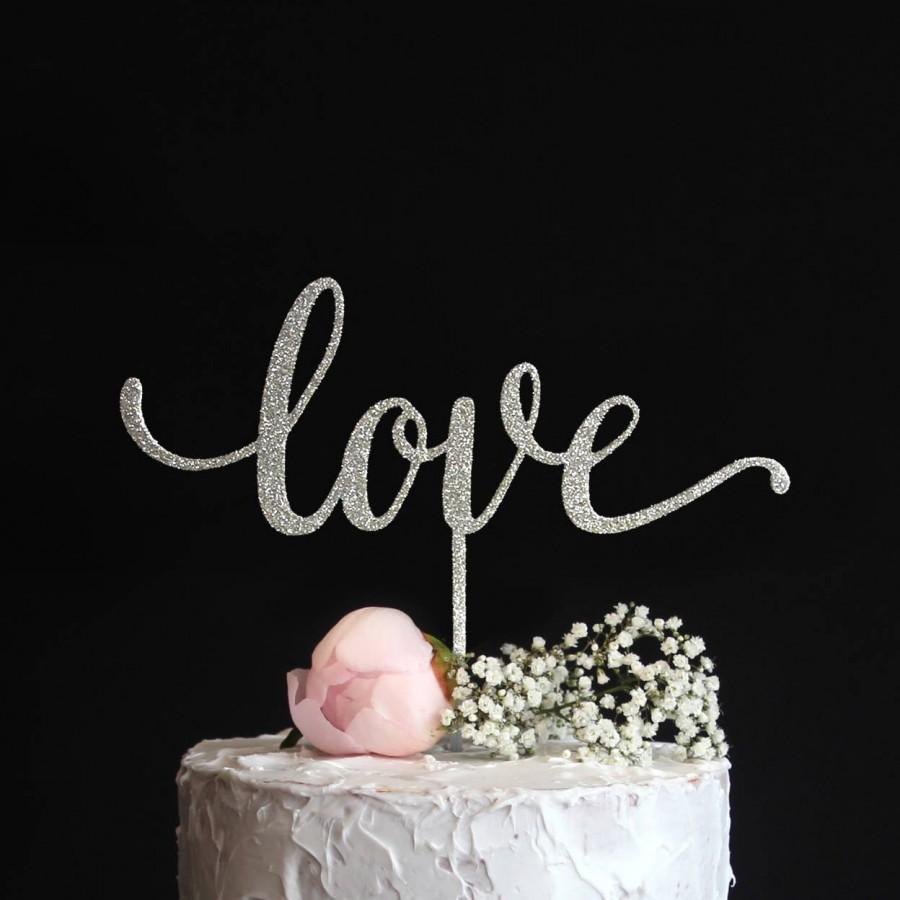 Hochzeit - Love Cake Topper