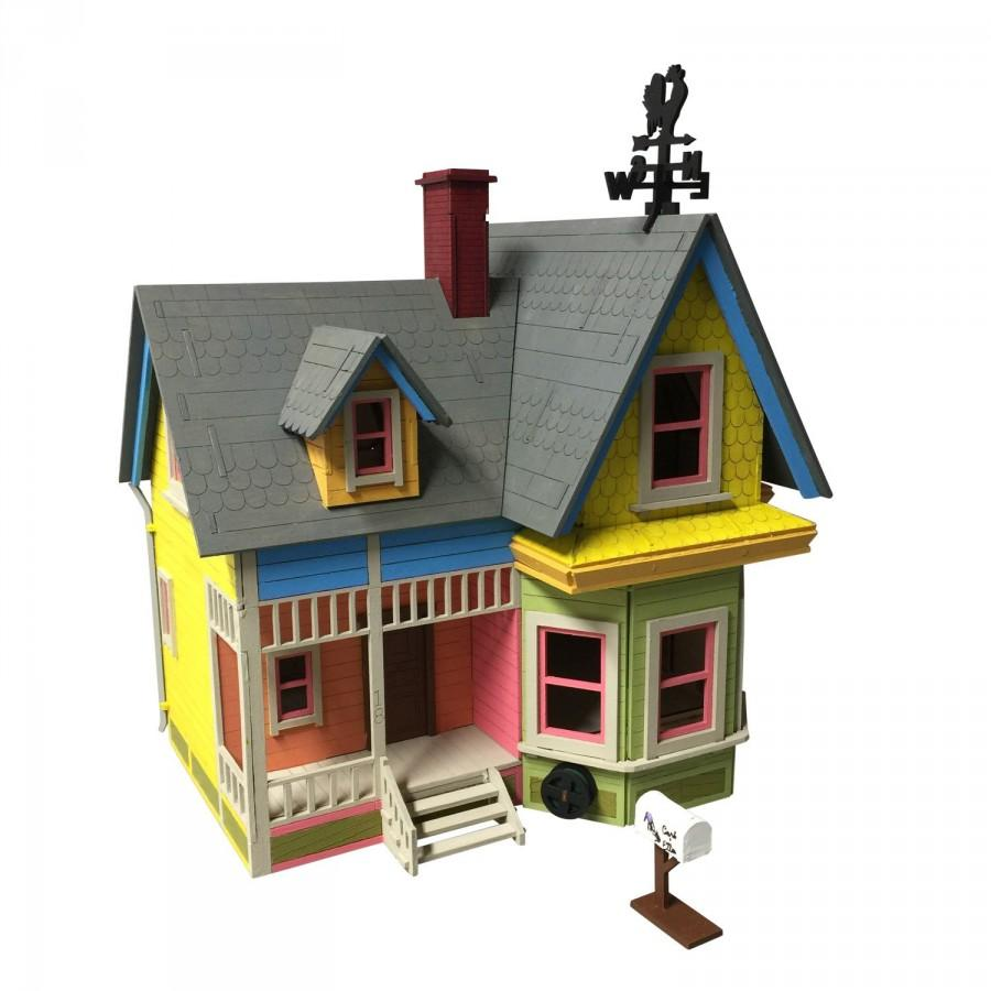 Mariage - Carl's Abode - New Version Model Kit, Up House, Wedding, Centerpiece, Birthday, Laser Engraved, Wooden Model, 3D Puzzle, Prop Engagement