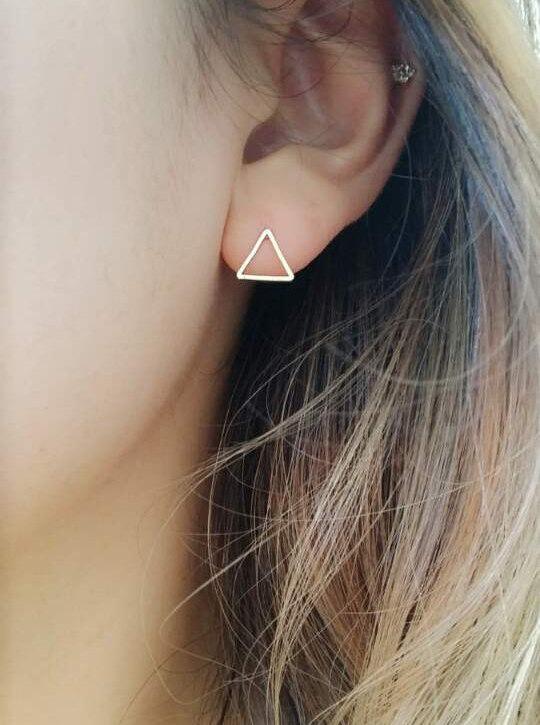 Wedding - Triangle Earrings