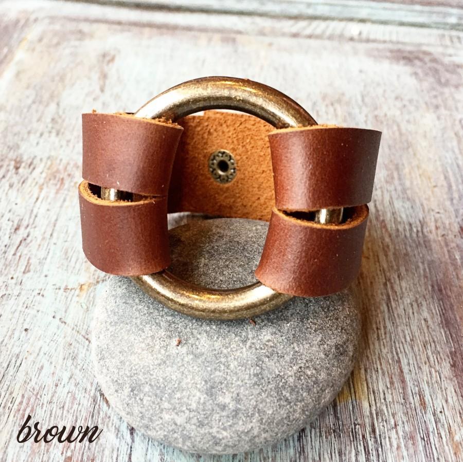 Hochzeit - Bold leather bracelet for women, Bracelet for women, Womens leather cuff, Leather bracelet, Leather jewelry, Layering Jewelry, Anniversary