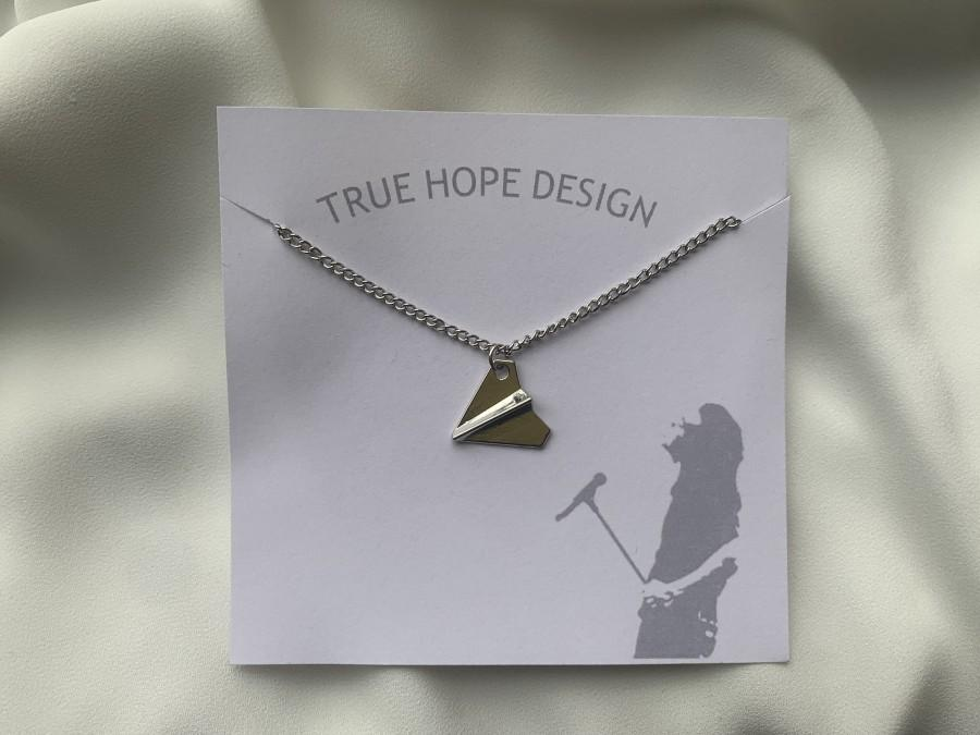 Mariage - Harry Styles paper airplane necklace/On backing/ Harry Styles/Necklace/Fine Line/ One direction/ Harry S/ Inspired by Harry Styles/ Silver