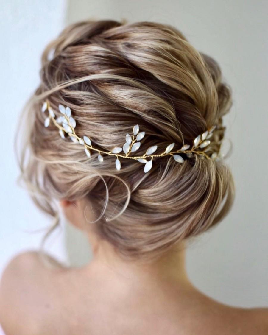 Wedding - Bridal hair vine  Bridal hair accessories Blue Opal Bridal hair vine Wedding hair piece Wedding hair Accessories Wedding hair vine