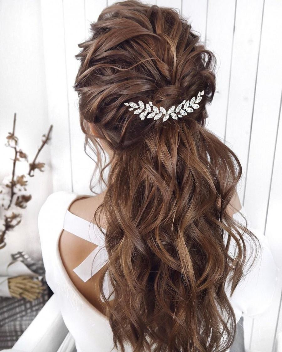 Wedding - Crystal Bridal Hair comb Crystal Bridal Hair Accessories Silver Wedding Jewelry Crystal Bridal Jewelry Crystal Bridal Hair Jewelry