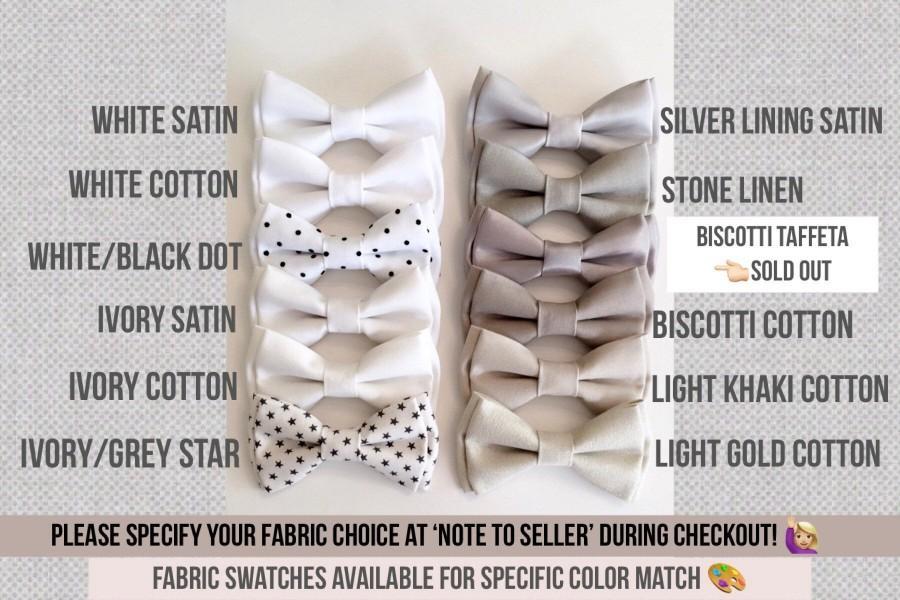 Hochzeit - Ivory bowtie -white bow ties -wedding bowtie- groomsmen bowties -Ivory/cream bowtie-wedding neckties -Ivory mismatched