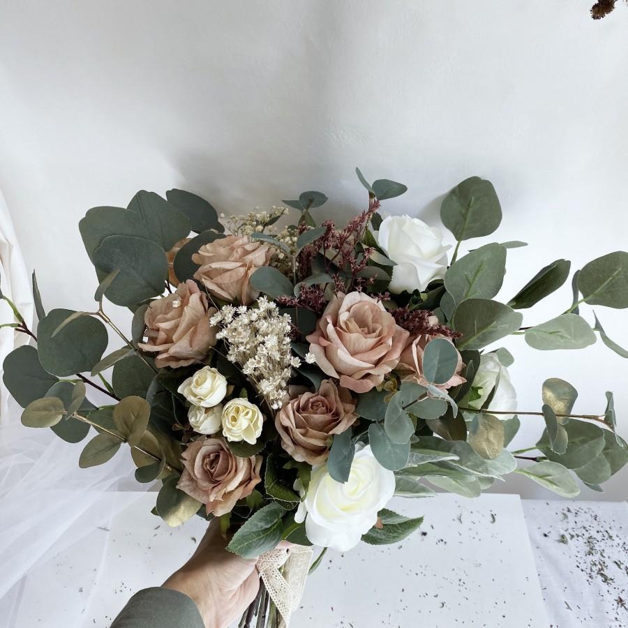 Свадьба - Bridal bouquets, silk roses wedding bouquet, bridesmaid bouquets, boho bouquets, brown bouquet, bride, boho wedding, bride bouquets, wedding