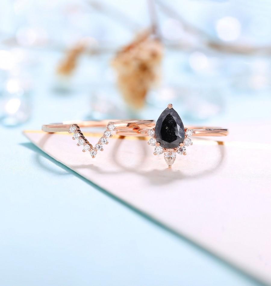 زفاف - Salt and Pepper Diamond Engagement Ring