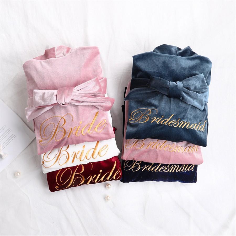 Wedding - Velvet Bridal Robes,Bridesmaid Robes,Wedding Party Robes, Gift for Bridesmaid,Robes for Bridesmaid,Wedding Robes