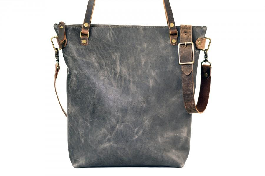 Свадьба - Made in USA Classic Leather Tote Bag