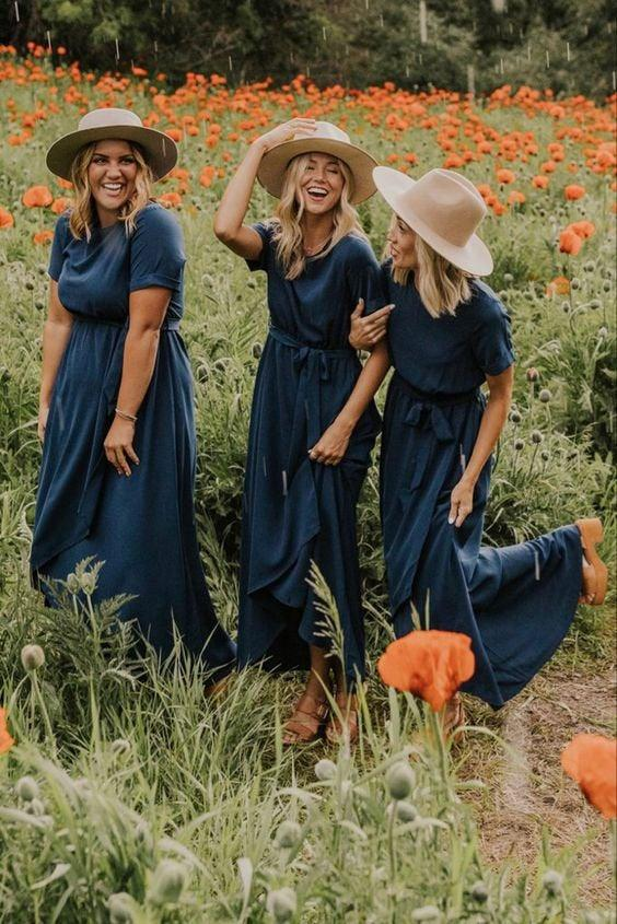 Wedding - Navy Bridesmaid Dress, Bridesmaids Dresses, Plus Size, Wrapdress, Maxi Wrap Dress, Wrap Dress, Custom Dress, Long Dress, Wrapdress