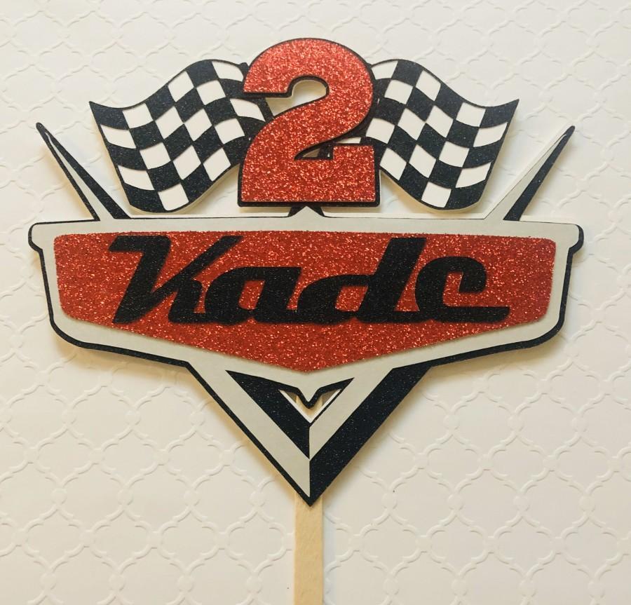 Mariage - Disney Cars Cake Topper- McQueen Cake Topper- Lightning Race Car- Cars Cake Topper-Cars Birthday-Rayo McQueen Party- Cars Topper-Cars Party