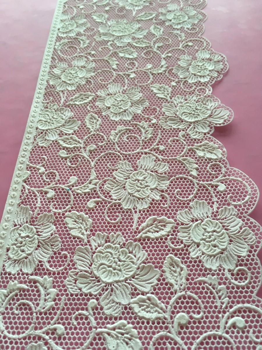 Свадьба - Delicate, Edible Lace, Sugar Lace, Cake Lace, Vintage Madame Butterfly Design
