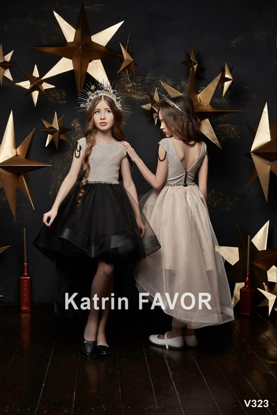Wedding - Flower Girl Dress Toddler Dress Birthday Party Dress Christmas Dress High Low Baby Dress Asymmetrical Girls Dress Fit And Flare Dress
