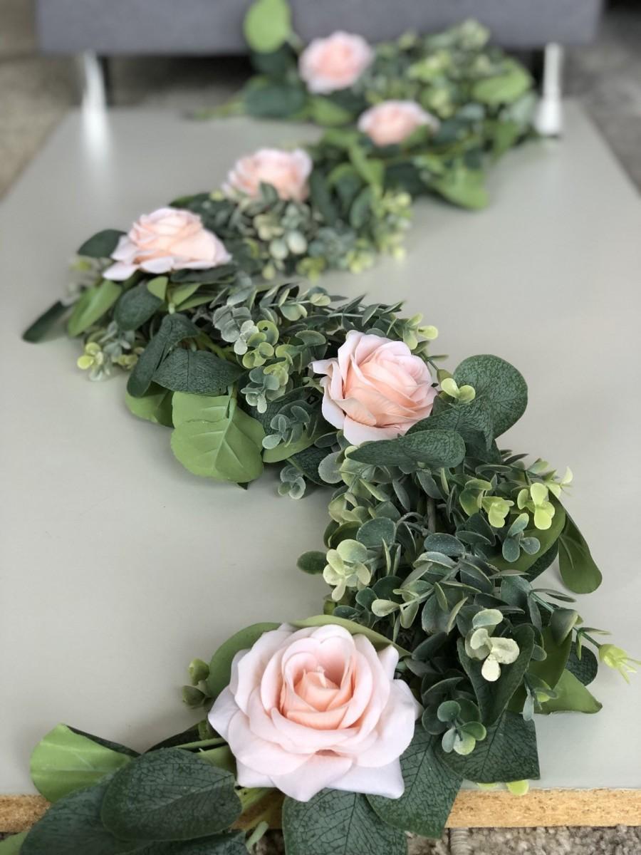 Свадьба - Eucalyptus Garland, Artificial Eucalyptus Garland, Wedding Centerpiece, Eucalyptus Swag, Greenery Garland, Table Runner, Silver Dollar Eucal