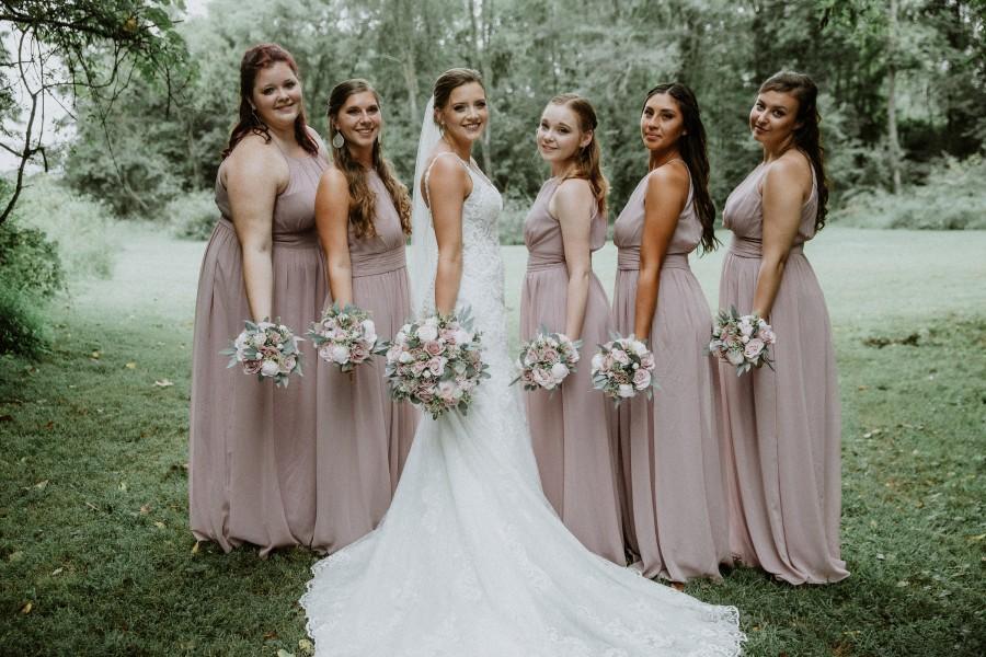 Свадьба - Dusty Rose and Blush Bridal Bouquet, Boho bouquets,  Wedding Flowers, Bridesmaid Bouquets, Corsage, bridal Flower Package, wedding flowers