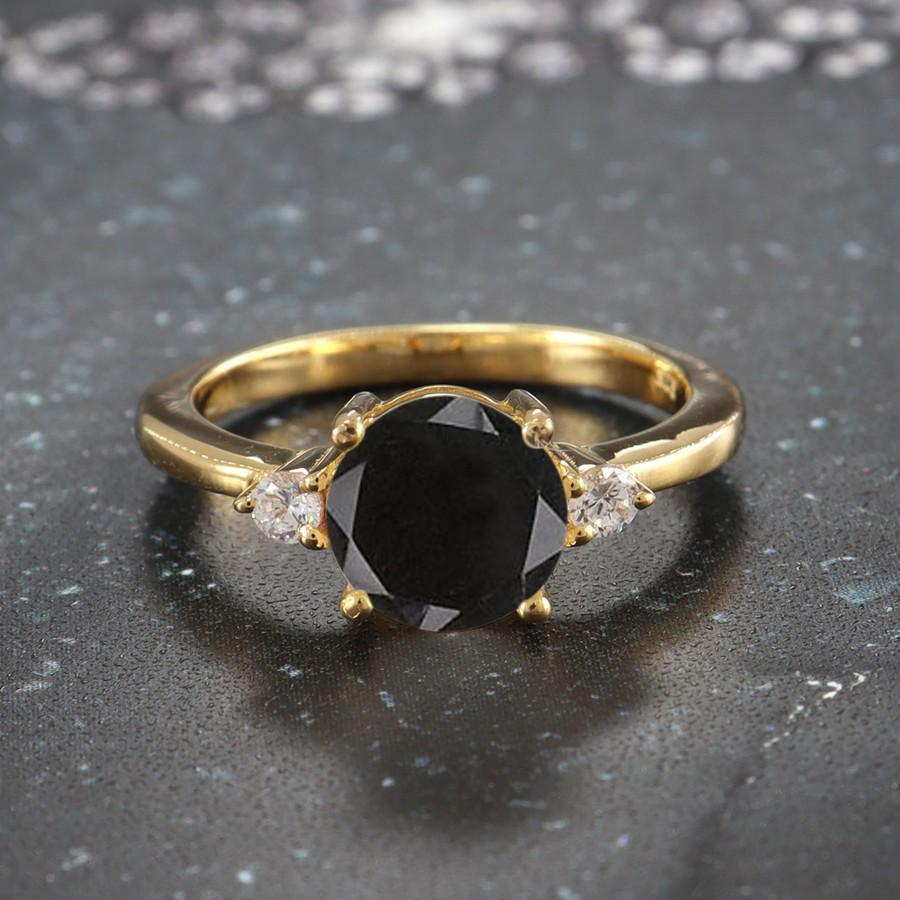 Wedding - AAA Black Friday Onyx Ring,Handmade Jewelry Ring,Personalized Gift,Silver Ring,Vintage Ring,Boho Yellow Gold Plated Ring,Beautiful Tiny Ring