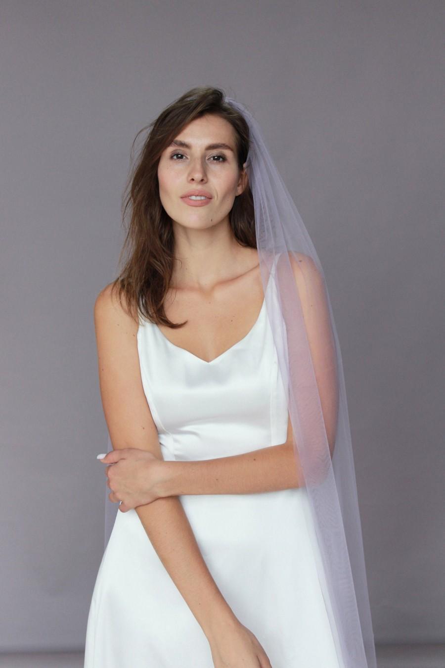 Mariage - Lavender wedding veil, Colored veil, Purple veil