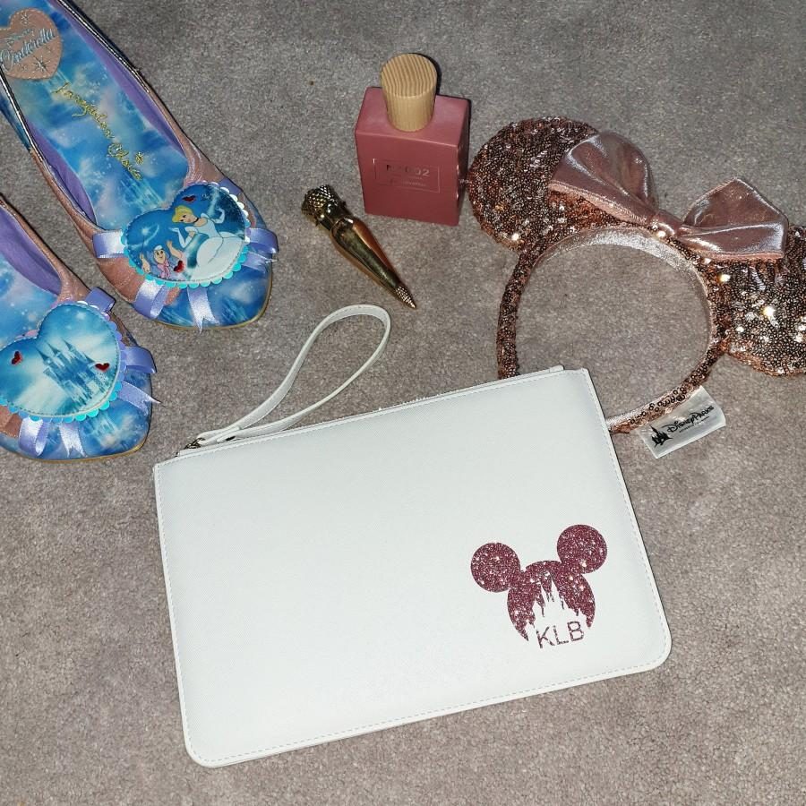 Mariage - Personalised Bride To Be Disney Wedding Clutch Bag - Beautiful Gift for Bride - Ideal for Bridesmaid Gifts - Mickey Mouse Bag