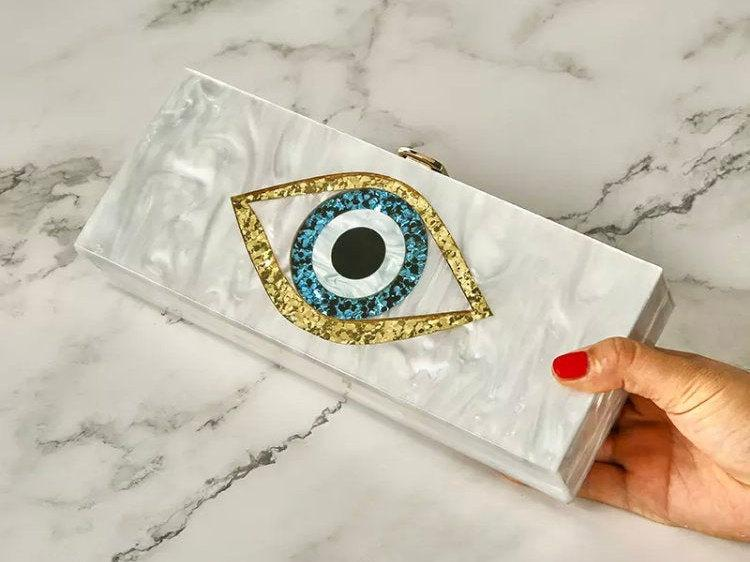 Mariage - Evil Eye Acrylic Clutch Bag