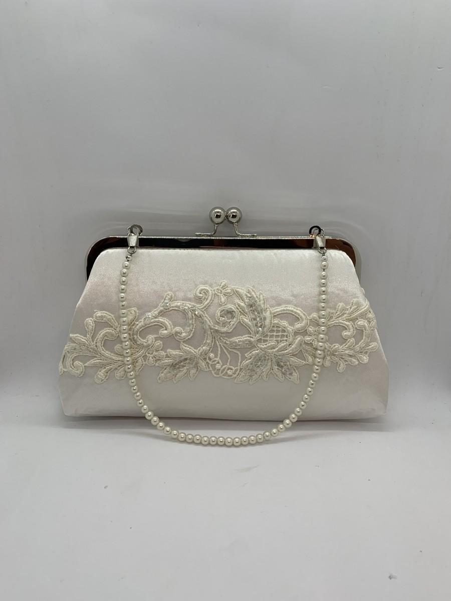 Mariage - Repurposed wedding dress, bridal clutch bag, Custom made from your old wedding dress, Heirloom purse bag