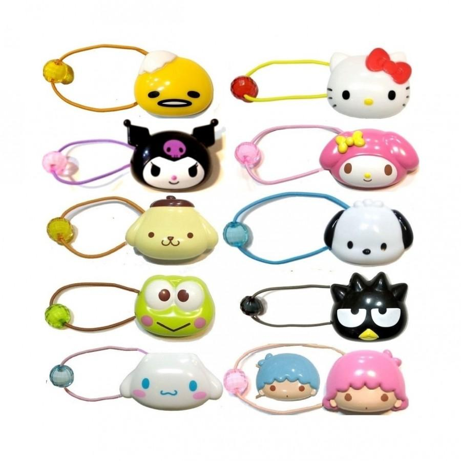 Wedding - Hello Kitty/My Melody/Little Twin Stars/Pochacco/Pompompurin/Keroppi/Bad Badtz-Maru/Cinnamoroll/Gudetama Ponytail Holder Elastic Band
