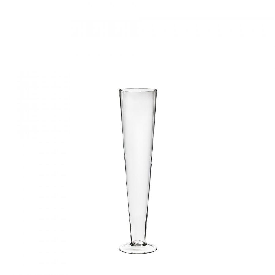 """Mariage - Glass 20"""" Trumpet Vases, Clear Pilsner Vase for Wedding Party Flowers Table Centerpieces Home Event Decoration"""
