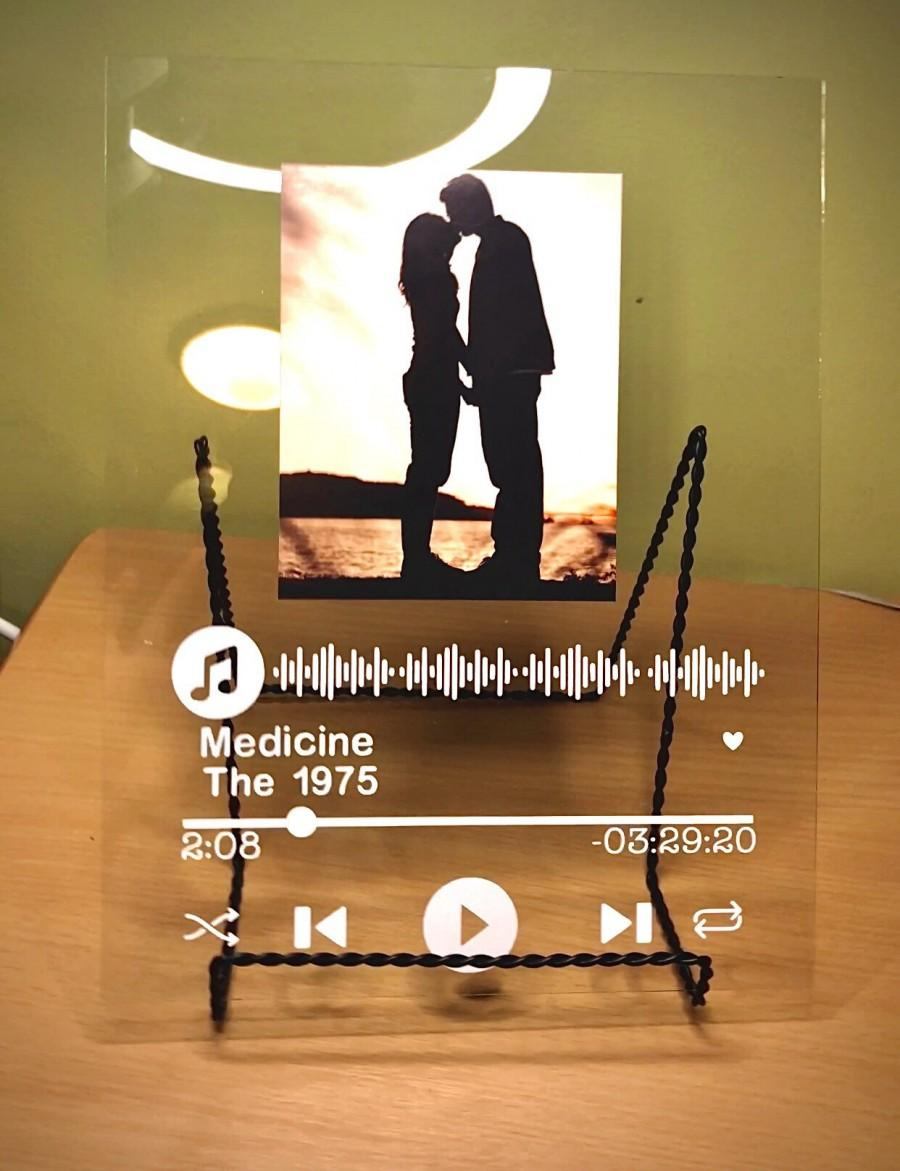 Wedding - Personalized gifts, Glass Song Album Plaque, Couples Wall Art, Music Album Cover Display, Personalized Gift, Love, Backsplash, DIY