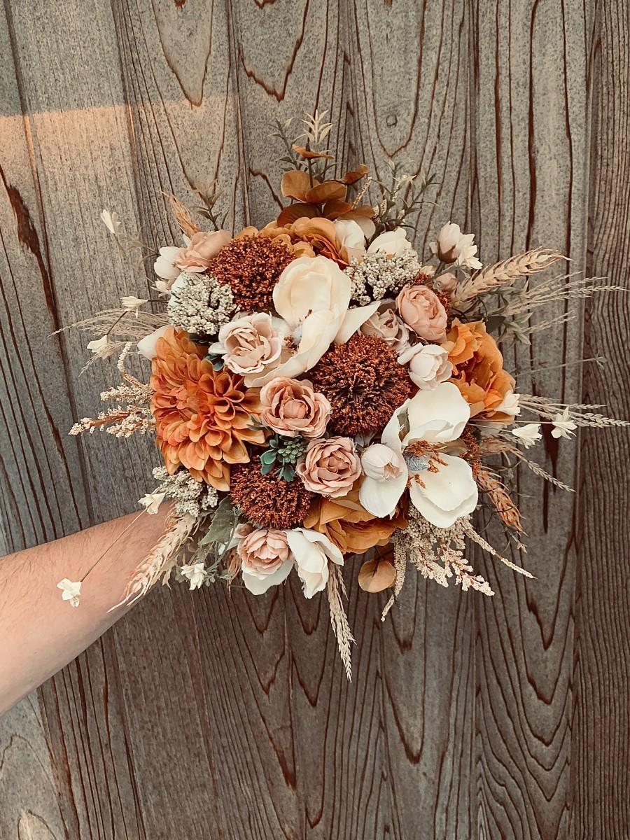 Wedding - Large fall bridal bouquet