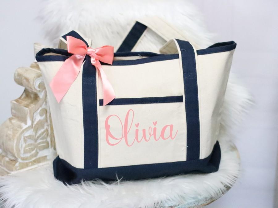 Wedding - Bridesmaid tote bag, bridal party totes, wedding gift, bridesmaid gift, wedding tote, personalized tote, bridesmaid proposal, monogram tote