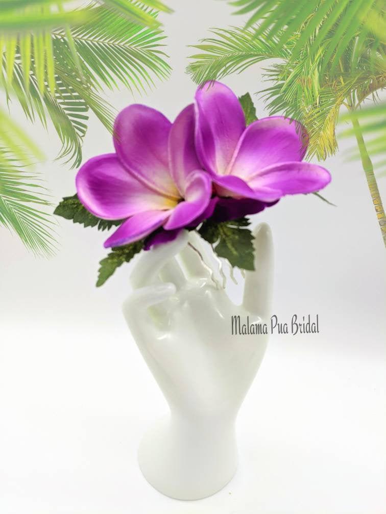 Wedding - WEDDING HAIR COMB, Hair Accessory, Real Touch Plumeria, Bridal Headpiece, silk hair flower, Beach Wedding, Hawaiian Hair clip, hairpiece